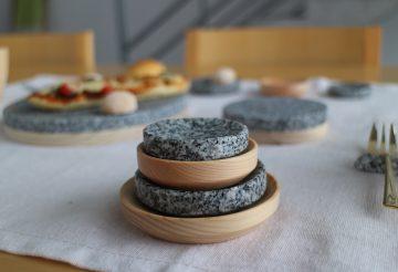 muku 大島石 媛ひのき の 豆皿、小皿